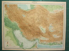 1921 LARGE MAP ~ PERSIA ~ STRAIT OF ORMUZ YEZD KERMAN AFGHANISTAN
