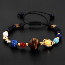 Hot Eight Planets Of Solar System Stone Beads Bracelet Christmas Gift Jewelry
