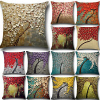 Vintage Flower Colorful Sofa Pillowcase Cushion Cover Throw Pillow Cases Decor