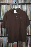 Vintage Brown Lacoste Size 11 Brown Polo Shirt