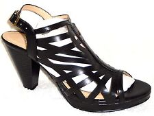 NEW CL BY LAUNDRY WENDIE BLACK CAGED HIGH HEEL SANDALS 10 M