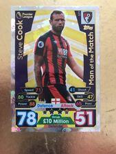 Match Attax Season 17/18 Bournemouth #377 Steve Cook-MOTM