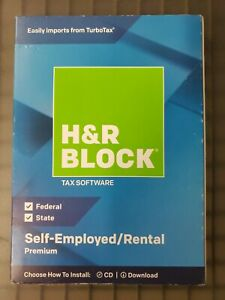 H&R Premium Self Employed/Rental 2018 Tax Software Fed/State Turbo Schedule C
