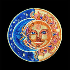 1PC Moon and Sun Patch for Clothing Iron on Embroidered Sew Applique Cute Patch