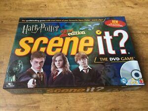 Scene It Harry Potter 2nd Edition DVD Board Game MATTEL Scene It? 100% Complete