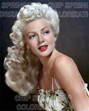 LANA TURNER WEARING FLORAL PRINT DRESS BEAUTIFUL COLOR PHOTO BY CHIP SPRINGER