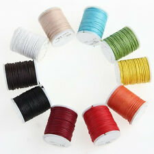 10 X Reel 10M Multicolor Cotton Rope Cord 0.9mm LW