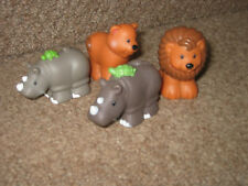 Fisher Price Little People Paire Zoo masculin féminin Noah Arche de rechange Animal Lion Rhino