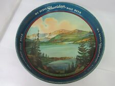 Authentic Sheridan Pale Beer Ale Tavern Bar Advertising Serving Tray 840-F