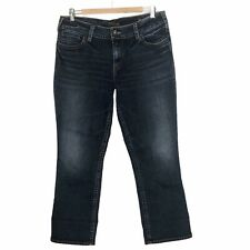Silver Suki Capri Jeans Size 34 Womens Dark Wash Midrise Cropped Stretch