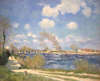 Landscape Painting Print on CANVAS Giclee Bougival Alfred Sisley Small Art 8x10