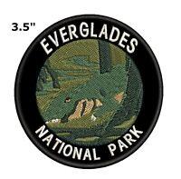 Everglades National Park Embroidered Patch Iron-On Souvenir Travel Explore