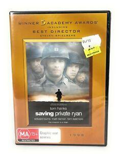 Saving Private Ryan (DVD, 1998) Tom Hanks New & Sealed Region 4 Free Postage