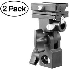 Racdde Flash Bracket Swivel Umbrella Holder Studio Tilting Camera Bracket 2 Pack