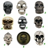 Skeleton Belt Buckles Skulls Crossbones Silver Metal Fashion Costume Halloween