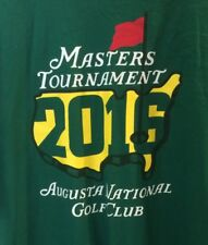 Masters Tshirt 2016 Golf Size Extra Large Augusta National Tournament XL