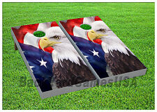 Cornhole Beanbag Toss Game w Bags Game Boards American Eagle Usa Set 980