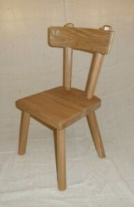 Childs chair,country style hand made oak heirloom gift. Antique of tomorrow