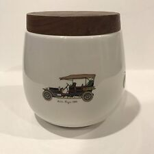 VINTAGE DUNHILL TOBACCO JAR ANTIQUE AUTOMOBILES ROLLS ROYCE - MADE IN ITALY