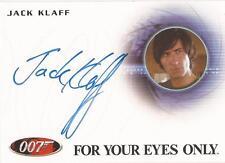 "James Bond 50th Anniversary - A219 Jack Klaff ""Apostis"" Auto/Autograph"