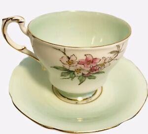 "Antique 1939-1949 Paragon Trio Teacup, Saucer, 6"" Bread Plate Mint Pink Gold"