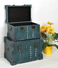 2er Set Container Industrie Design Kommode Schrank Aufbewahrungskiste Truhe NEU