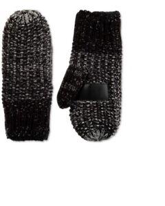 ISOTONER - Women's Signature Acrylic Knit Lurex Mittens, Black, One Size, NWOT