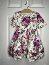Janie And Jack Toddler Girl Floral Dress 100036757 Size 3 $89