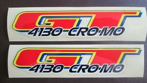 Yellow GT bmx decals stickers for post clamp,Gyro