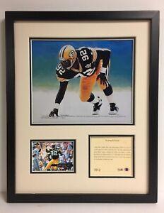 RARE 1994 REGGIE WHITE NFL HALL OF FAME FRAMED ART & PHOTOGRAPH LITHOGRAPH