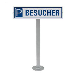 Parkplatzschild mit Standpfosten zum anschrauben Motiv Schild Besucher