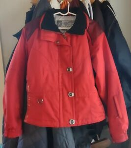 Women's Spyder Picabo Red Ski Jacket Size 8 Very Nice Condition