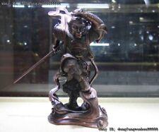 Chinese Bronze Copper Xiyouji Monkey King Sun Wukong Wu Kong Hold Cudgel Statue