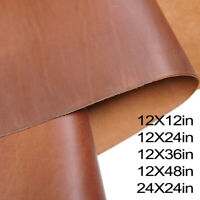 2.0 mm Real Cowhide Leather Sheets for Crafts - Crazy Horse Leather Fabric Craft