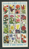 EQUATORIAL GUINEA SCOTT Catalog # 7499 COMPLTE SET MNH FLOWERS