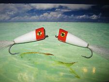 2 V Fly Size 2 Alphonse Red Head Popper GT Saltwater Flies
