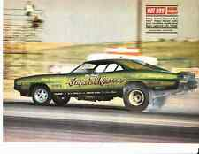 1968 DODGE CHARGER FUNNY CAR - NELSON CARTER ~ ORIG MAGAZINE PICTURE / PHOTO/AD