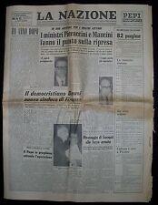 Quotidiano LA NAZIONE Alluvione di Firenze  4 Novembre 1967 Speciale Anniversari