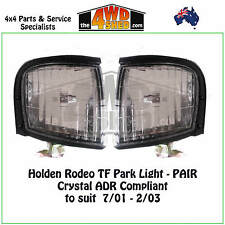 FRONT PARK LIGHTS HOLDEN RODEO TF PAIR - CRYSTAL ADR COMPLIANT suit 2001-2003