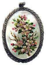 Pendentif en Nacre Cadeau femme Bijoux russes en Nacre Pendentif Beau bouquet
