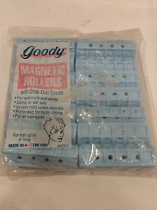 Vintage Goody 14 Small Magnetic Rollers w/Snap-Over Covers 1993 NEW