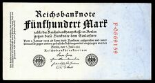 Germany, Reichsbanknote, 500 mark, 7-7-1922 (WPM 74a), scarcer red serial num...