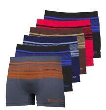 6pcs Men Soft Microfiber Boxer Briefs Underwear Compression Knocker One Size Lot