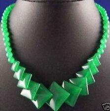 schöne grüne Partei Schmuck Jade Hochzeit Halskette 17 zoll