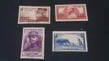 Lot de 4 Timbres France 1940 Pour les oeuvres de guerre N°454 à 457 YT