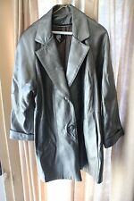 Vintage Mafia Style Silver Genuine Leather Jacket M