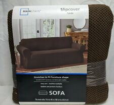 "Mainstays Slipcover - Fits Most Sofas 74"" to 96"" - Brown Color"
