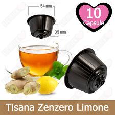 10 Capsule Cialde Tisana Zenzero e Limone Compatibili NESCAFE DOLCE GUSTO