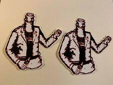 "Lot (2) Minor Threat 4"" x 4"" Punk Rock Logo Stickers Fast Ship! Ian MacKaye"