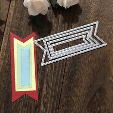 131*49mmmm Stitched Banner Scrapbooking Dies Metal Cutting Dies New